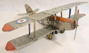 Meccano 1930s Construction Set DH Moth-style  Military Biplane - assembled - SOLD